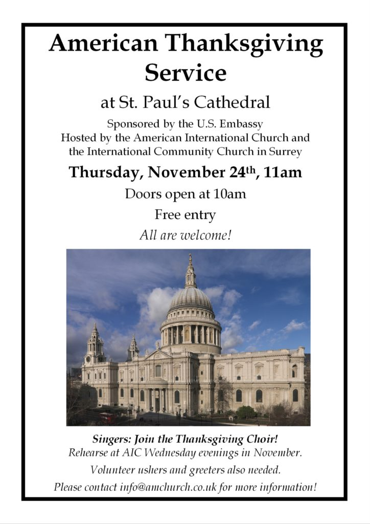 Thanksgiving Service at St. Paul's Cathedral